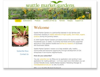 Seattle Market Gardens™ Website